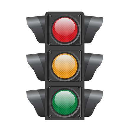 Traffic lights. Vector illustration Stock Illustratie