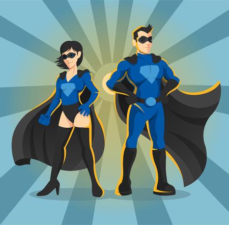 Superheroes vector illustration  イラスト・ベクター素材