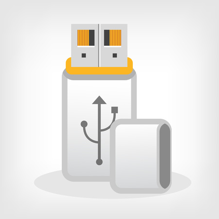 usb disk: Vector USB Flash Drive illustration Illustration