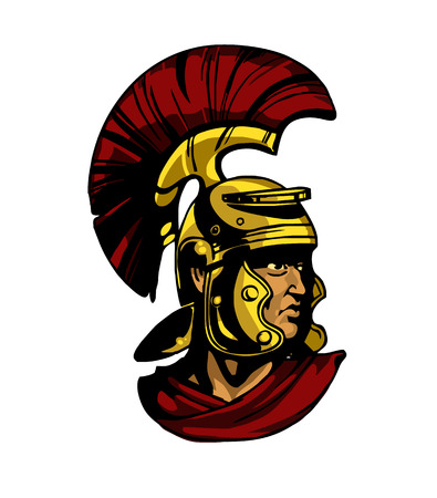 centurion: Vector gladiator head illustration