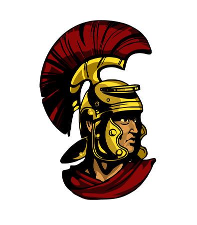 Vector gladiator hoofd illustratie