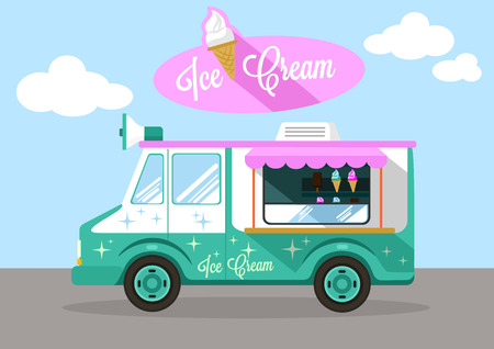 ice: Vector ice cream flat illustration Illustration