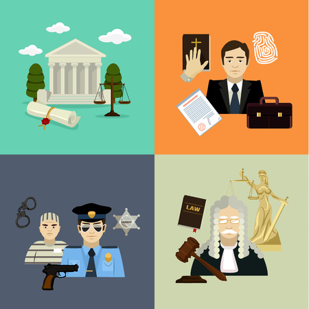 penal: Vector law illustration set Illustration