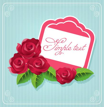 Vector rose postcard illustration Vector