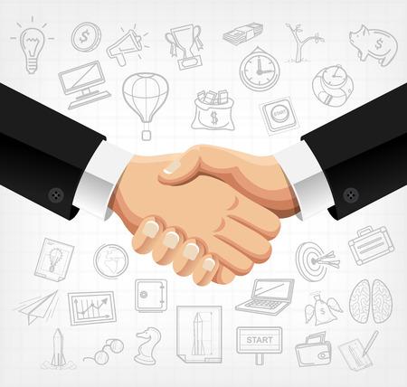 business handshake: Business handshake vector illustration