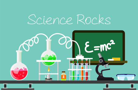 Chemistry vector flat illustration Stock Vector - 38203759