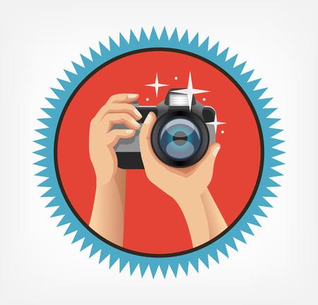 ベクトル写真フラット アイコン