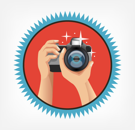 Vector photo flat icon Ilustrace