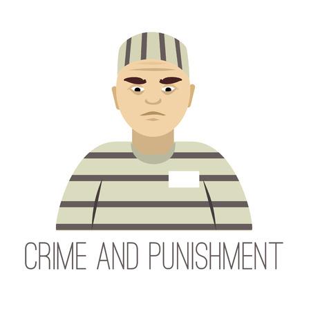criminal: Vector criminal flat illustration