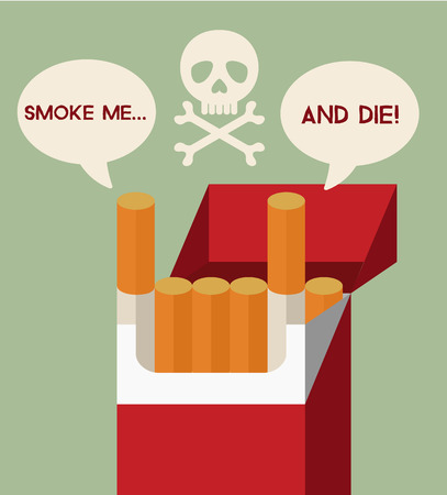 Smettere di fumare illustrazione vettoriale piatto Archivio Fotografico - 38549305
