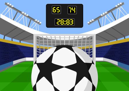 grass close up: Vector football flat illustration Illustration