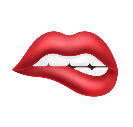 mouth kiss mouth: Vecor lips illustration