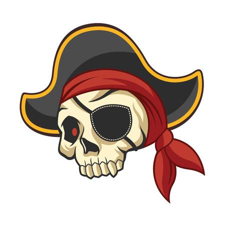 vector skull danger sign: Vector pirate skull illustration