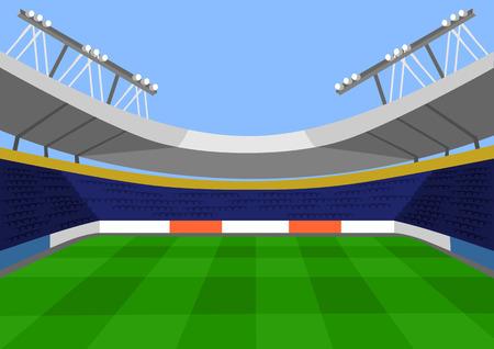 cancha deportiva futbol: Fútbol Vector ilustración plana
