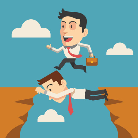 connexion: Vector business people flat illustration
