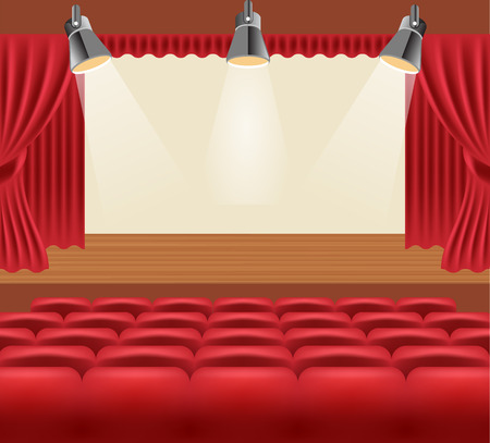 cinema screen: Vector cinema hall illustration