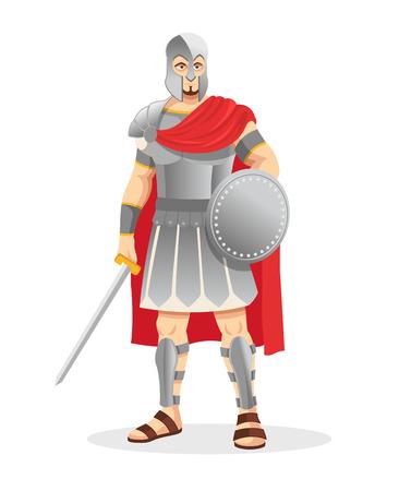 Gladiator. Vector illustratie Vector Illustratie