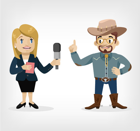 interviewer: Vector interview flat illustration