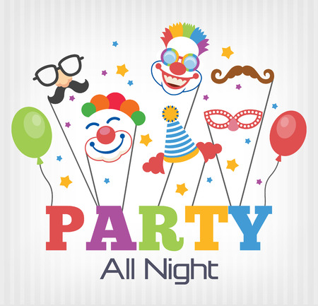 event party: Vector party flat illustration Illustration