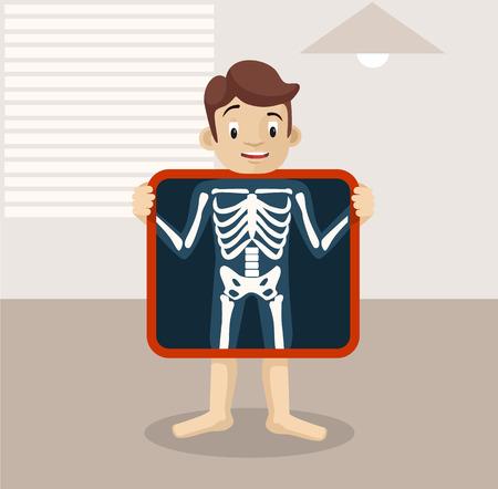 x-ray flat illustration Illustration