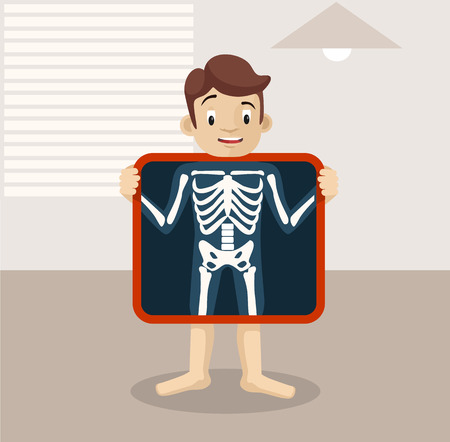 x-ray flat illustration Ilustrace