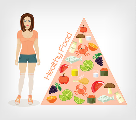 slim girl flat illustration Illustration