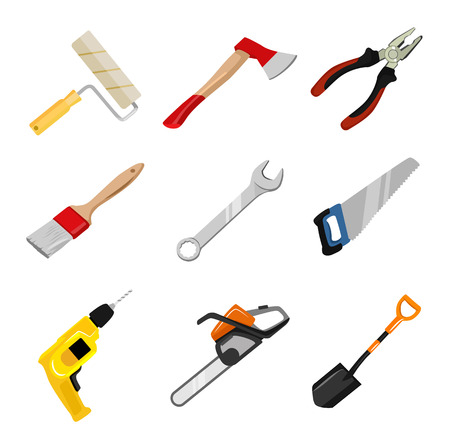 pliers: Vector construction tools icon set