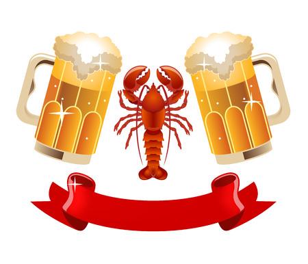 Vector beer illustration Illustration