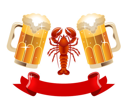 Vector beer illustration Ilustração