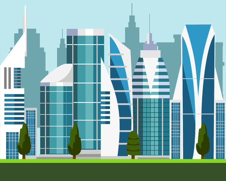 Vector modern city illustration