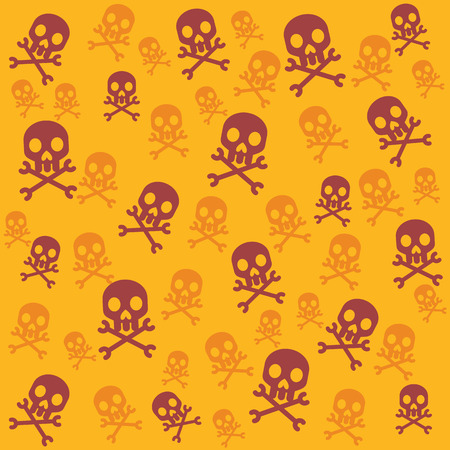 skull vector: Vector skull background