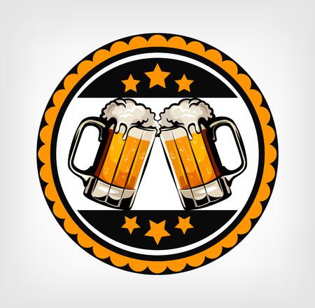 Label of beer. Vector illustration
