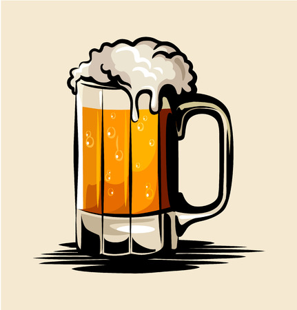 mug of ale: Vector beer illustration Illustration