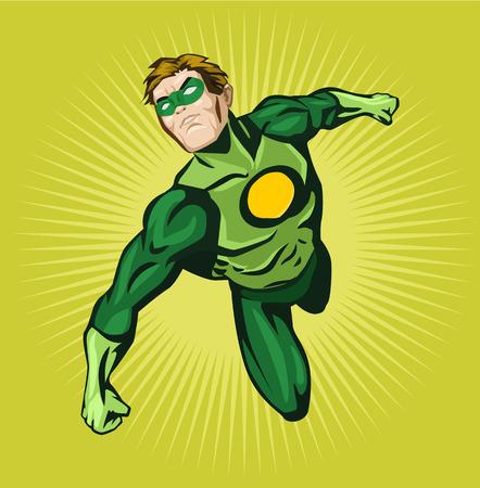 Vector superhero comic illustration Illustration