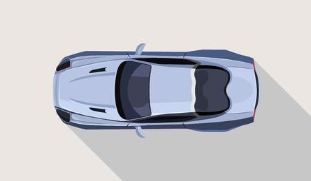 Vector flat sport car illustration