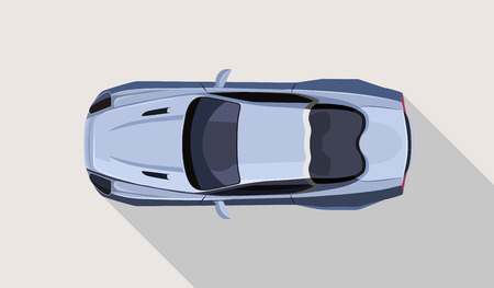 Vector flat sport car illustration