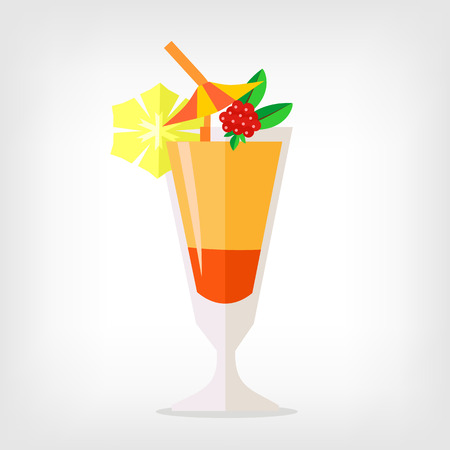 Vector cocktail flat illustration 向量圖像
