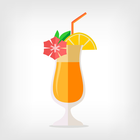 Vector illustration Cocktail Flach