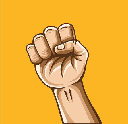 antisocial: Vector fist illustration Illustration