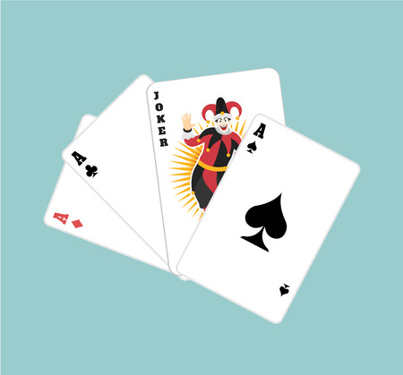 game cards: Vector game cards flat illustration