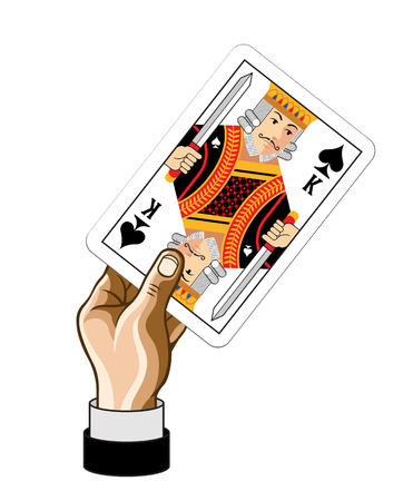 card game: Vector King game card with hand