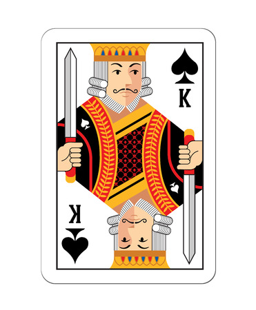 play card: Vector game card King illustration