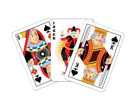 rey: Ilustración vectorial Tarjeta de juego