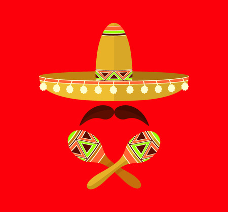latin americans: Mexico vector flat illustration