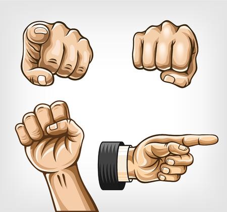 finger: Hands set. Vector illustration