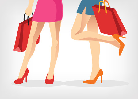 shoes vector: Vector shopping illustration