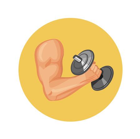 brawny: Vector strong hand icon Illustration