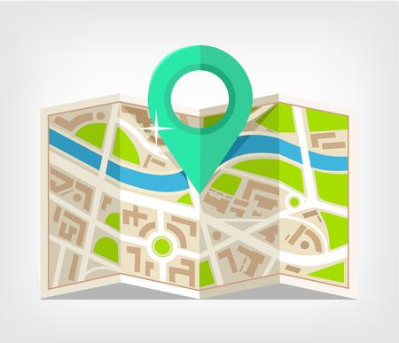 Map vector flat illustration