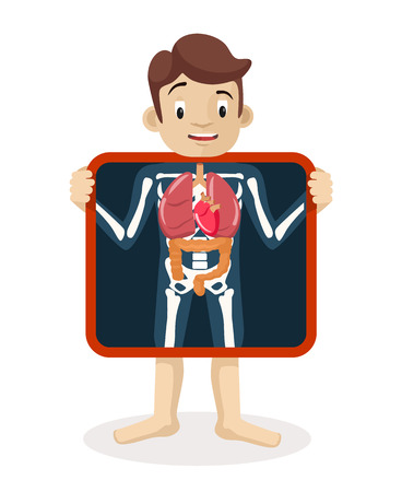 doctor and patient vector: Vector Xray flat illustration