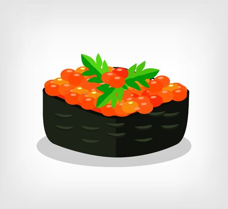 susi: Vector one sushi vector flat illustration